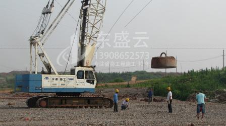 中国海洋石油总公司惠州炼油项目强夯施工方案实施现场